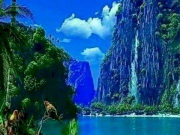 Paesaggio della Thailandia. - Incredibilmente bella vista della Thailandia. Una palma.