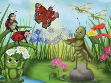 """""""Muzyka Przyjaźni""""- Anna Bomba, Bliżej przedszkole - ułóż puzzle i sprawdź co powstało."""