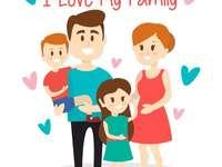 Puzzle z rodziną - Po ułożeniu, dzieci jeśli chcą, mogą się wypowiedzieć na temat obrazka.