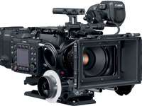 Expensive camera - A large black camera that costs a huge amount of money. A close up of a camera.