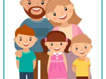 Mi familia - Familia, madre, padre e hijos. A close up de un juguete.