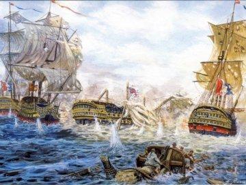 Batalla Trafalgar - Batalla Trafalgar de Giuseppe Rava.