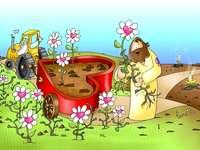 Pán Bůh rozsévá a farmář - Podobenství o pšenici a dechtu. Podobenství o pšenici a dechtu Evangelium. Podobenství, rozsév