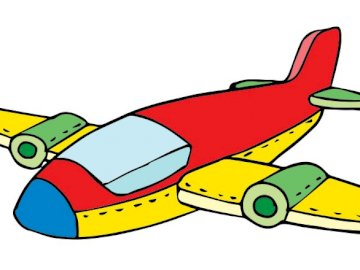 airplane for children - toddler plane puzzle. A drawing of a cartoon character.