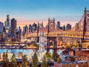 New York - puzzles de test 1234567890. Une vue d'une ville.