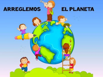 Planet Earth - Kids puzzle fixing the planet.