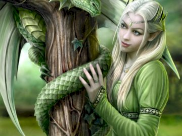 Dragon by Anne Stokes - A beauty image from artist Anne Stokes, exists a puzzle made by clementoni with this image. Uma est�
