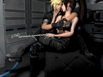 Final Fantasy - Tifa and Cloud perfect couple love.
