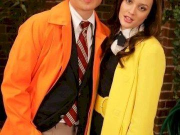 Chuck and Blair Season 1 Puzzle - Chuck Bass and Blair Waldorf in season 1 of the Gossip Girl TV series. Ed Westwick, Leighton Meester