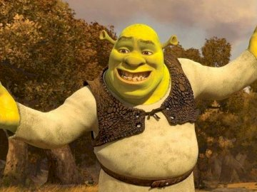 shrek forever - shrek forever the best fairy tale. A statue of a person.