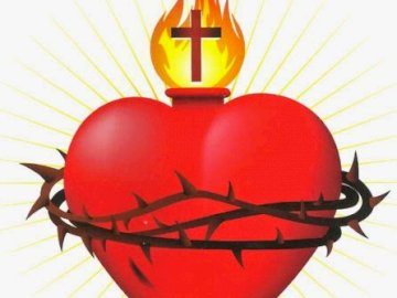 Jesus' heart - Jesus heart - puzzles for small children - grades 1-3 primary school. A close up of a lamp. Easy kid