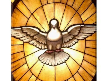 Holy Spirit - dove, symbol of the Holy Spirit. The face of a building.