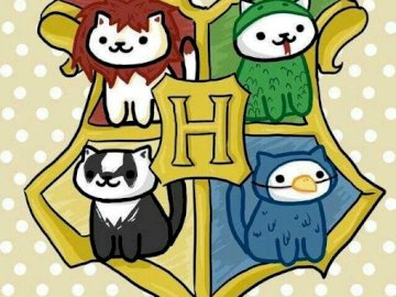 Las casa de hogwarts - Te presento un puzle con las 4 casa de hogwarts =gryffindor,hufflepuff,ravenclaw y slythering.