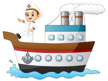Boat with sailor - Puzzle of a boat with a sailor.