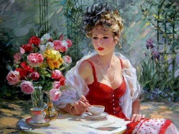 Beautiful woman - Konstantin Razumov, painter.
