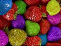 COLORFUL FLOWERS - :) :) :) :) :) :) :) :) :) :). A group of colorful food.