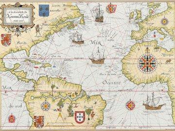 mapa świata - karta, aby rozpocząć grę ucieczki. Zbliżenie mapy.