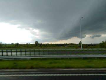 Landscape - Bad weather in the countryside.