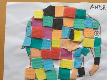 Elefant Elmer - Das Elmer-Elefantenbaby ist ein Elefant in vielen Farben.