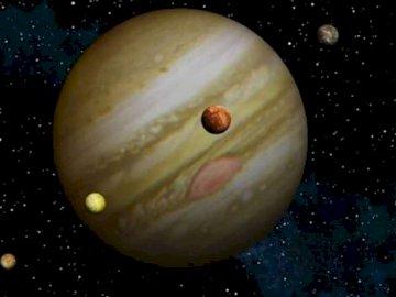 Jowisz i jego księżyce - planeta Jowisz i jego księżyce.