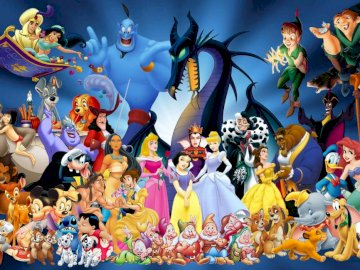 disney characters - disney characters puzzle.