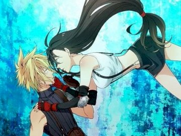 Final Fantasy - Tifa and Cloud perfect couple love. A person wearing a costume.