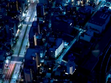 Tokyo from above - Aerial view of city buildings during night time. Oakland. A circuit board on a city street.