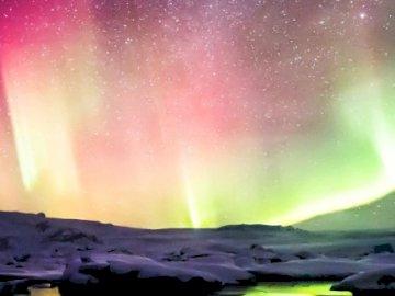 Krajobraz 5 - Krajobraz z zorzą polarną.