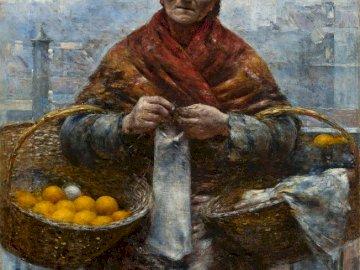 Pomarańczarka - Gierymski, Żydówka z pomarańczami.