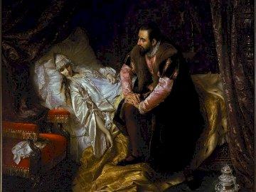 Śmierć Barbary Radziwiłłówny - Radziwiłłówna mocno podupadła na zdrowiu, po długiej i ciężkiej chorobie umierając w 1551 ro