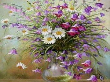 Feldblumen. - Feldblumen. Eine Nahaufnahme einer Blume.