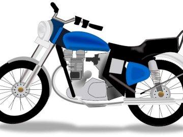 Motocicleta.1 - Motocicleta infantil. Um close-up de uma bicicleta.