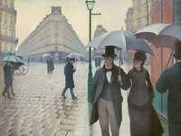 Παρίσι Street, Rainy Day (1877)