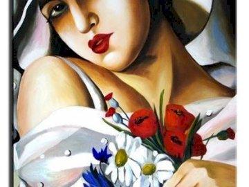 Tamara Łempicka - kobieta, kwiaty, kolory.