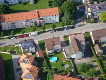 Aerial photo - Aerial view from Lower Bavaria near Plattling. A large building.