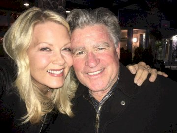 Barbara niven and Treat Williams - Chesapeak Shores Megan Mick. Barbara Niven, Treat Williams are posing for a picture.