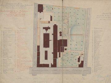 norblinfactory - карта на фабриката за норблин през XIX век. Отблизо текс�