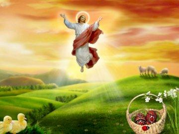 P. Jesus goes to heaven - Ascension of P. Jesus.