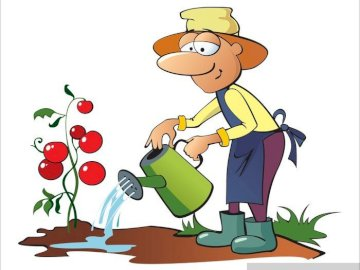 Gardener - Arrange the puzzles so that they depict a picture of a gardener.