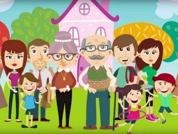 Moja rodzina - Ułóż obrazek z rodziną.
