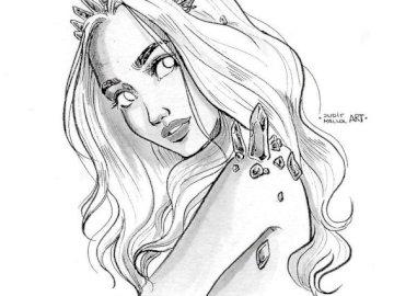 Rysunek ślicznej dziewczyny - To urocza dziewczyna rysująca i bardzo bym to zrobił.