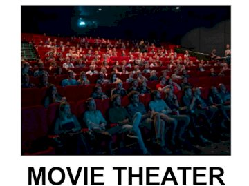 MOVIE THEATER JIGSAW - MOVIE THEATER JIGSAW - MY TOWN. A group of people in front of a crowd.