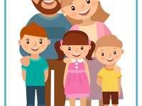 Mijn familie - Puzzel met directe familieleden. A close up van een stuk speelgoed.