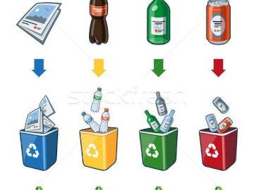 selectarea gunoiului - Selectare gunoiului pe categoryii. Ein Screenshot eines Handys auf einem Tisch.