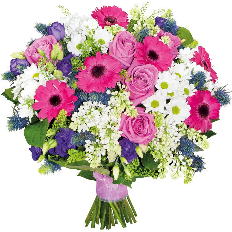 Flowers for mom - Mother's day / flowers for my beloved I celebrate their holiday. A bouquet of flowers in a v