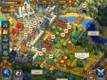 TheTribezAndTheCastlez - imagini din joc la nivelul 15. O grămadă de articole care sunt expuse într-un magazin.