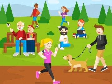 Aktionen - Das Bild zeigt verschiedene Aktivitäten, die Menschen im Rahmen aktiver Freizeitaktivitäten ausfü