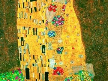 Painting by Gustaw Klimt - Kiss - oil painting by Gustav Klimt.