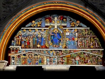 Абатство Тимпанум - Тимпан от абатството на Конки.