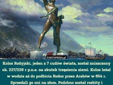 Kolos z Rodos - Odkryj tajemnicę - posąg, który już nie istnieje.